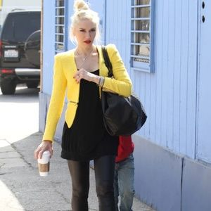 Zara Yellow Tweed Zipper Jacket Size Large